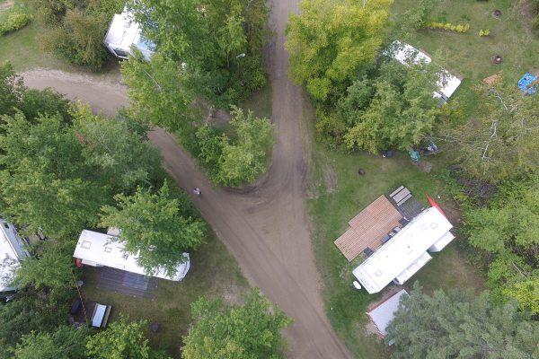 Lake Metigoshe Campground, Manitoba, Canada - Aerial Shot of Lots