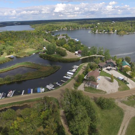 Lake Metigoshe Campground, Manitoba, Canada - Aerial Shot