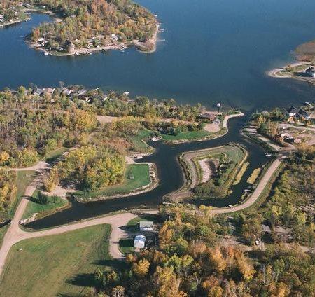 Lake Metigoshe Campground, Manitoba, Canada - Aerial Shot