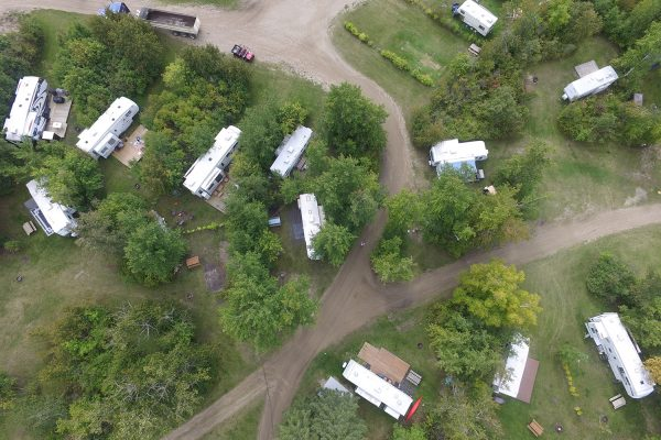 Lake Metigoshe Campground, Manitoba, Canada - Aerial Shot of Lots